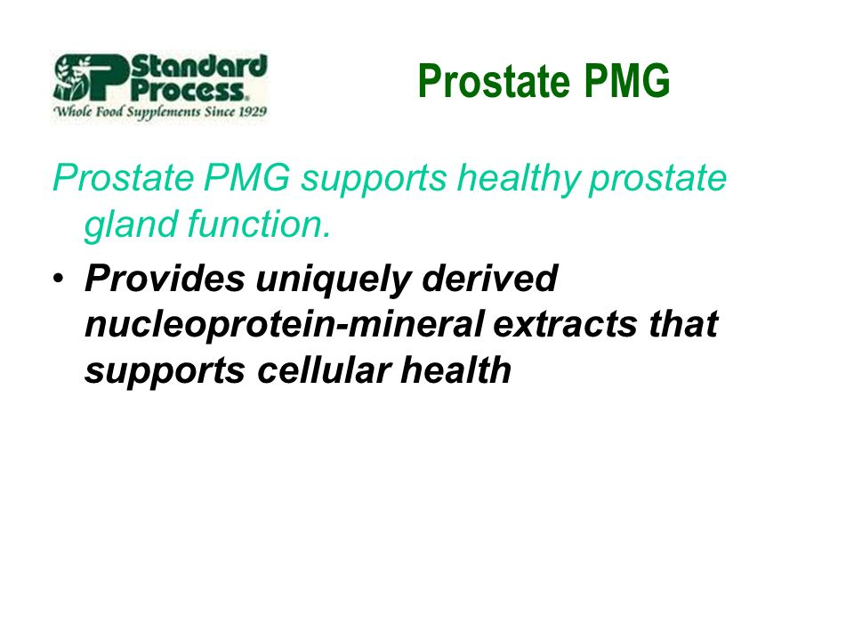 Prostate PMG Prostate PMG supports healthy prostate gland function.