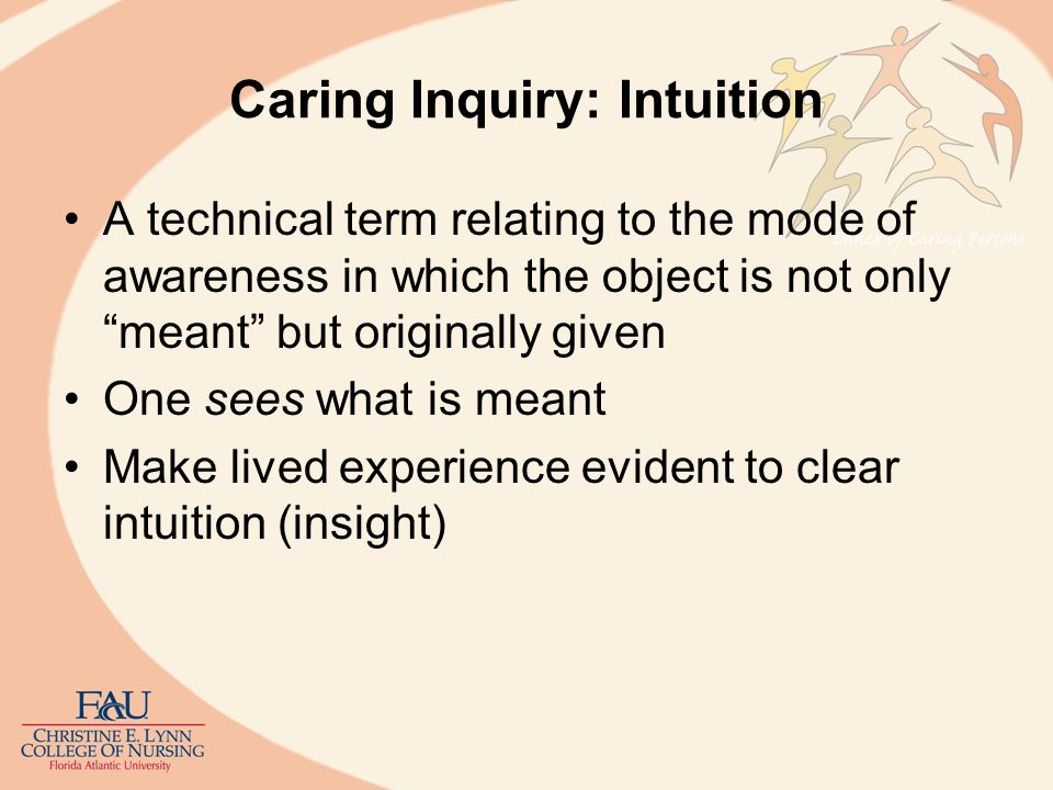 Caring Inquiry: Intuition