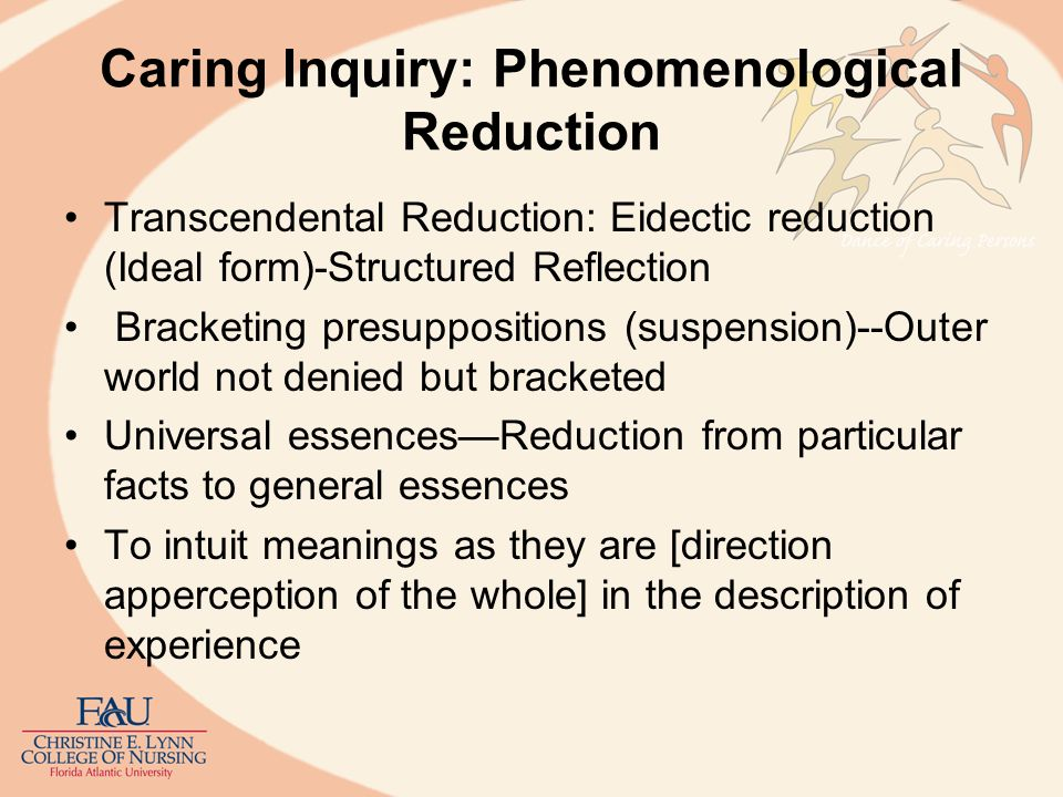 Caring Inquiry: Phenomenological Reduction