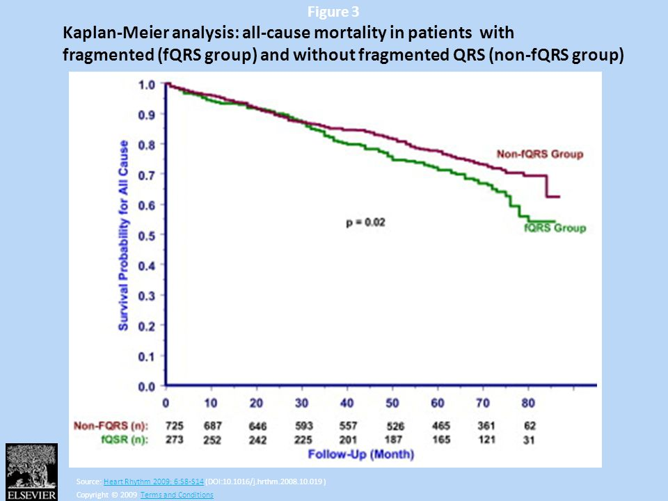 Kaplan-Meier analysis: all-cause mortality in patients with