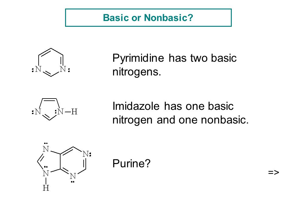 Pyrimidine has two basic nitrogens.