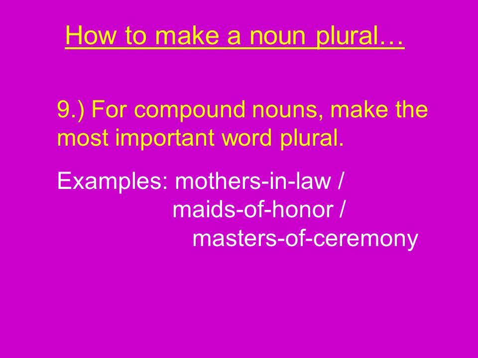 How to make a noun plural…