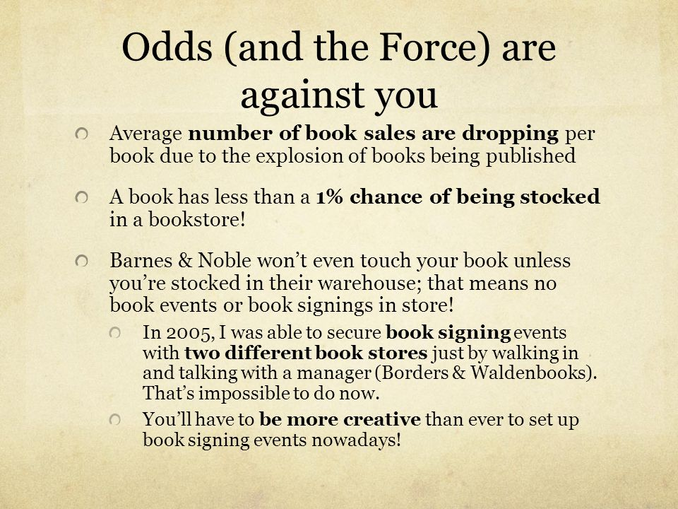 Odds (and the Force) are against you