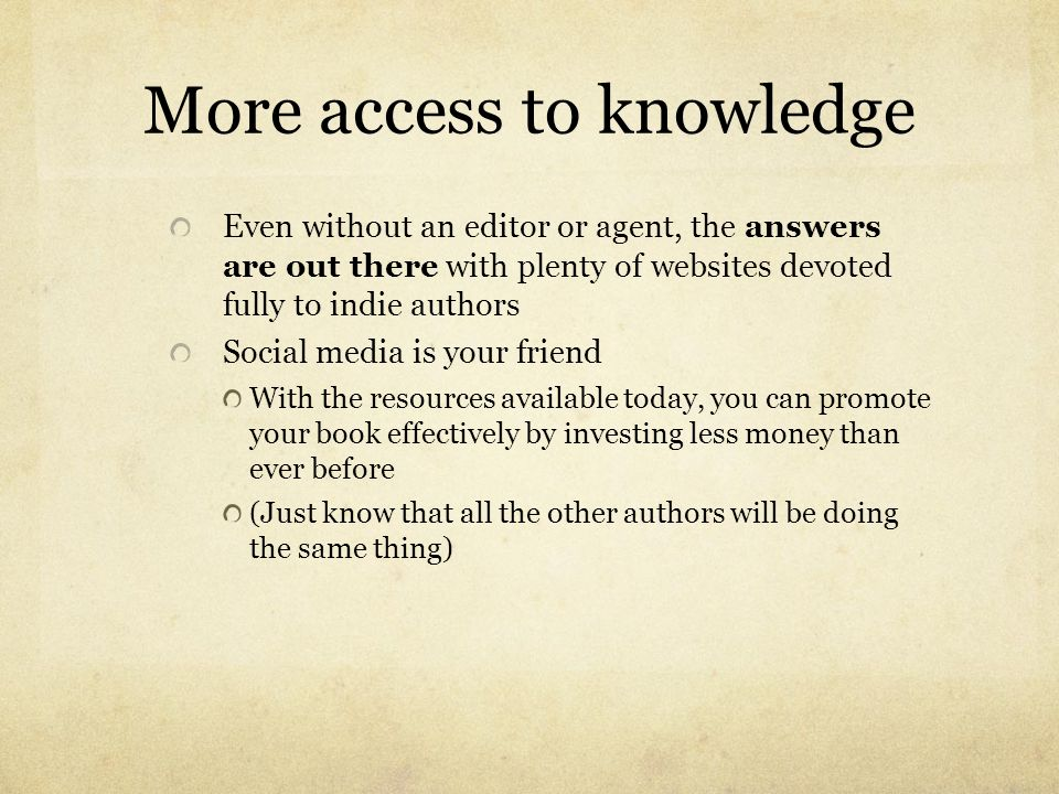 More access to knowledge