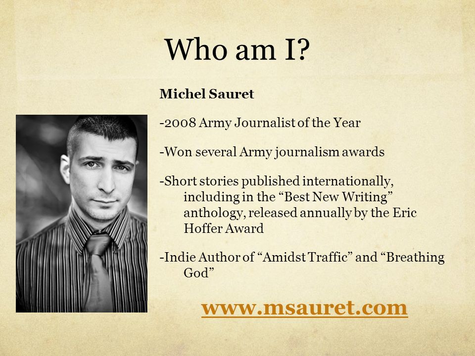 Who am I www.msauret.com Michel Sauret
