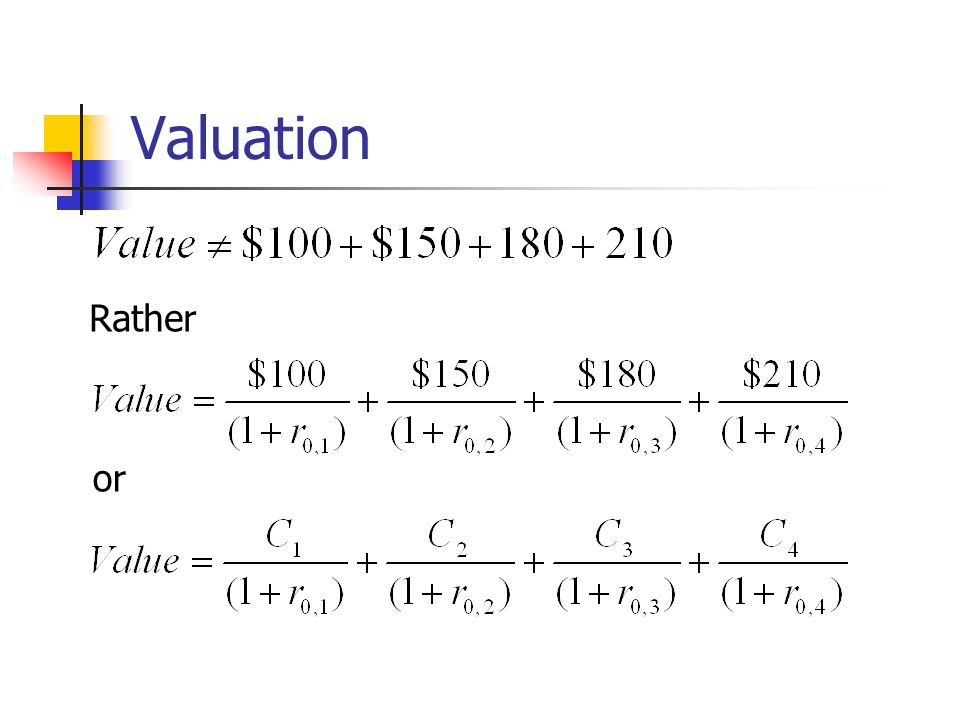 Valuation Rather or