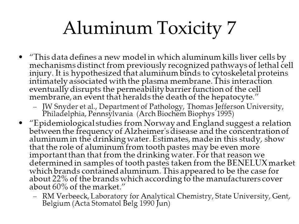 Aluminum Toxicity 7
