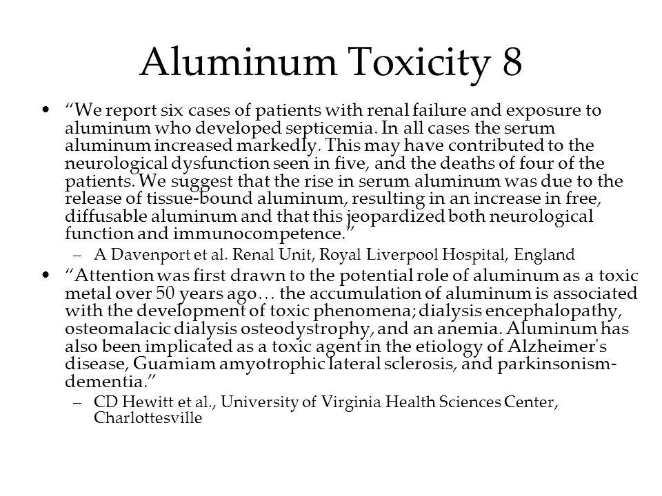 Aluminum Toxicity 8