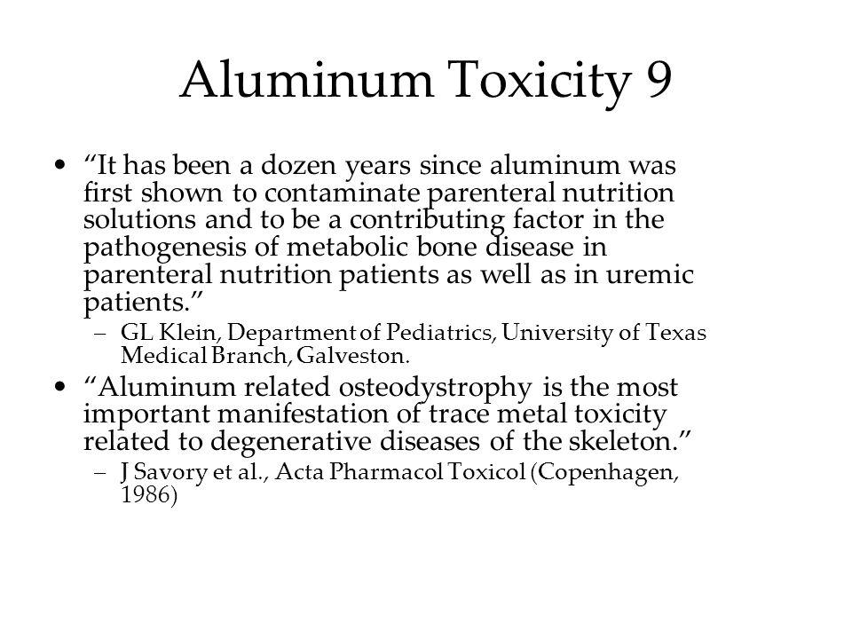Aluminum Toxicity 9