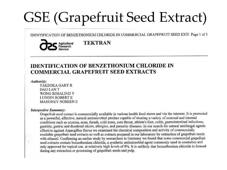 GSE (Grapefruit Seed Extract)
