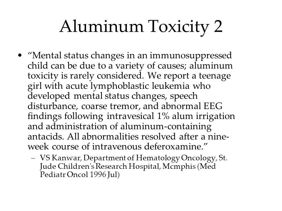 Aluminum Toxicity 2