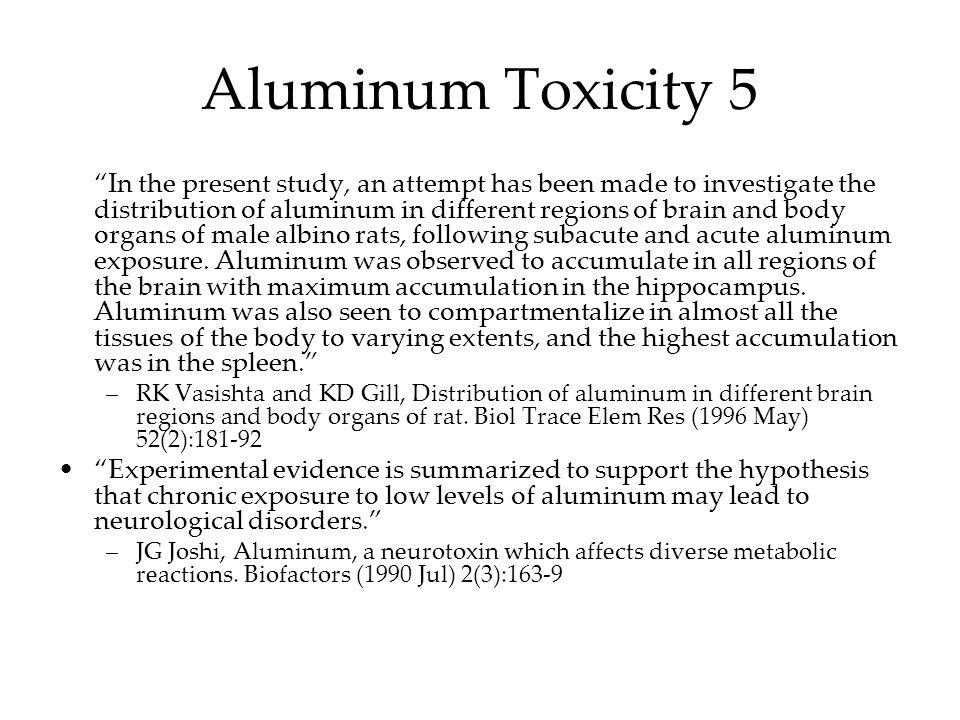 Aluminum Toxicity 5