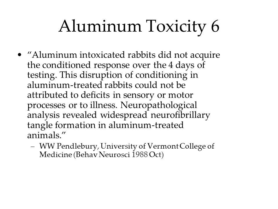 Aluminum Toxicity 6