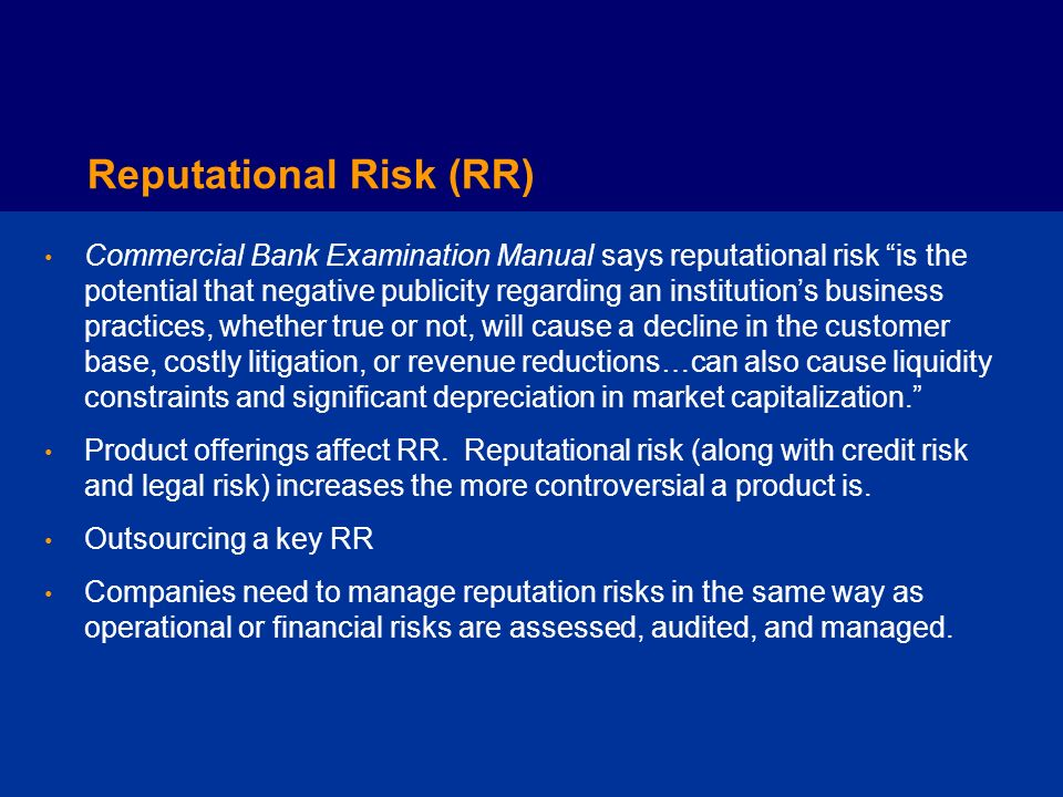 Reputational Risk (RR)