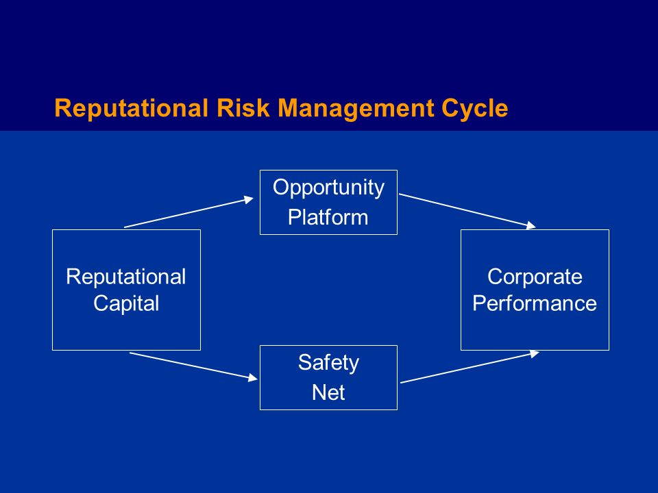 Reputational Risk Management Cycle