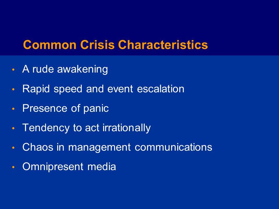 Common Crisis Characteristics