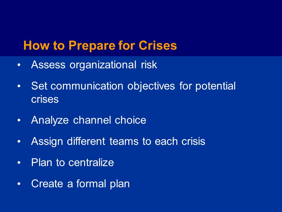How to Prepare for Crises