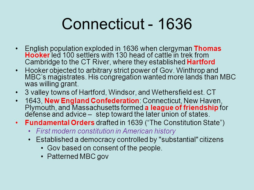 Connecticut - 1636