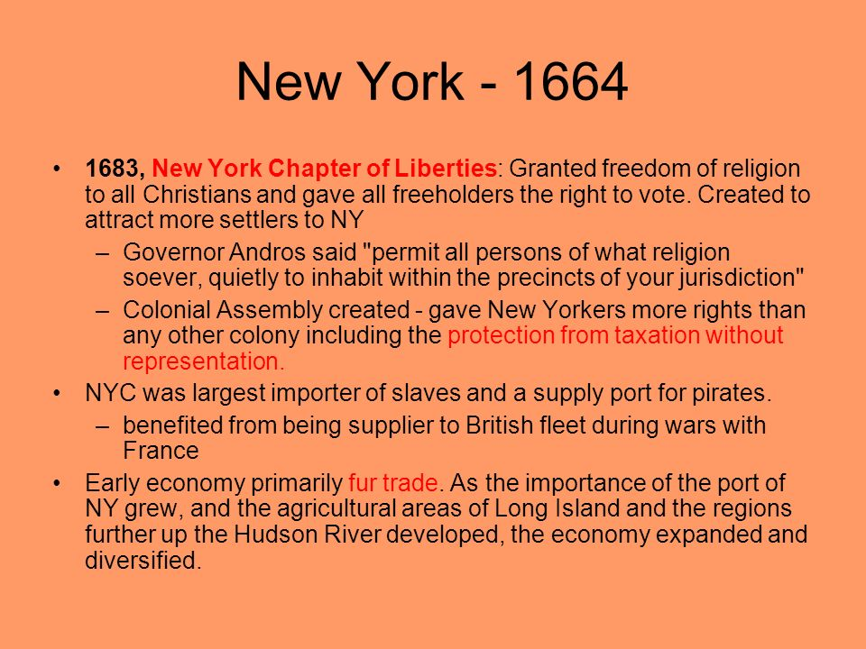 New York - 1664