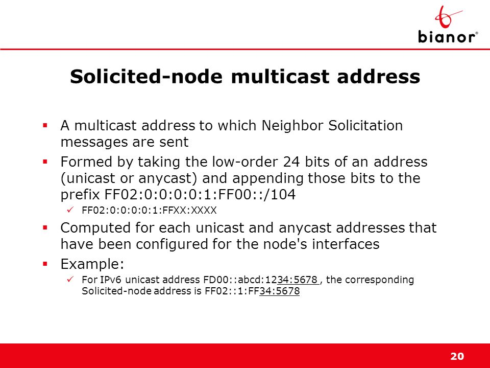 Solicited-node multicast address
