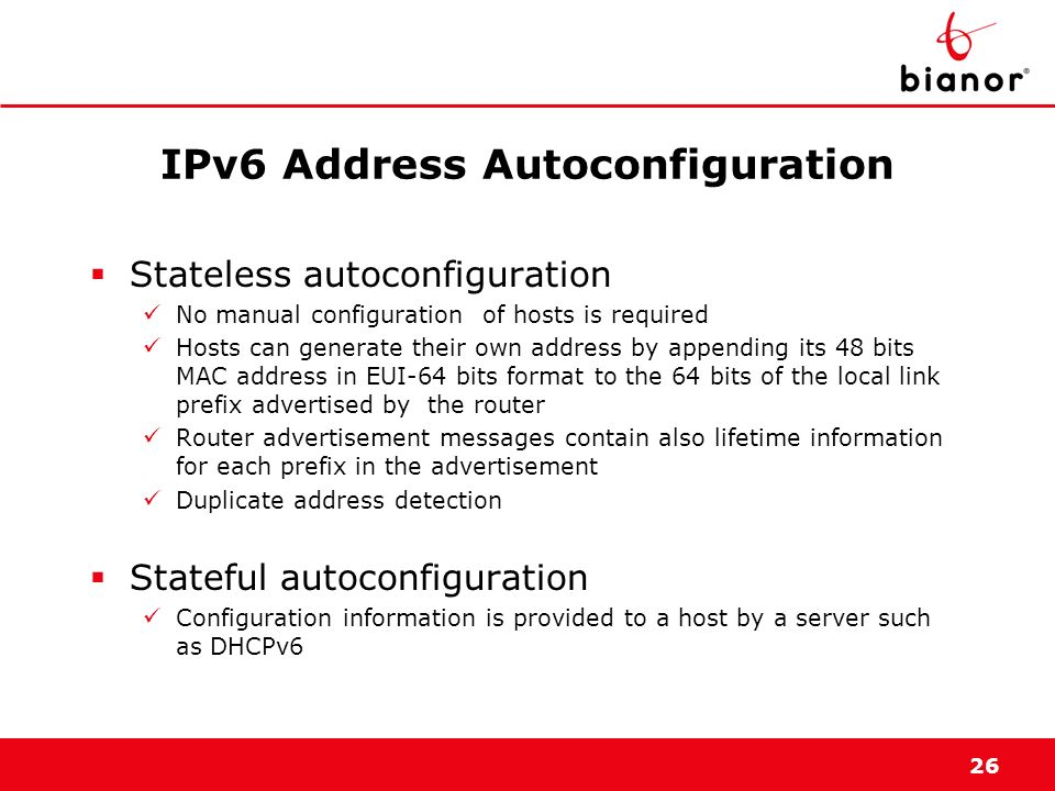 IPv6 Address Autoconfiguration