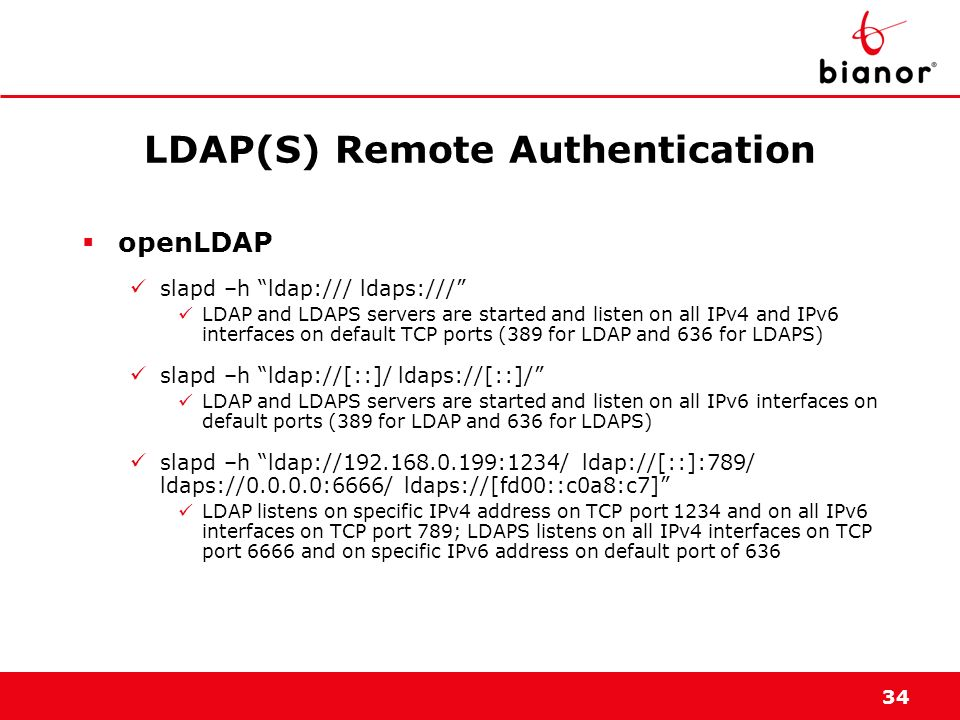 LDAP(S) Remote Authentication