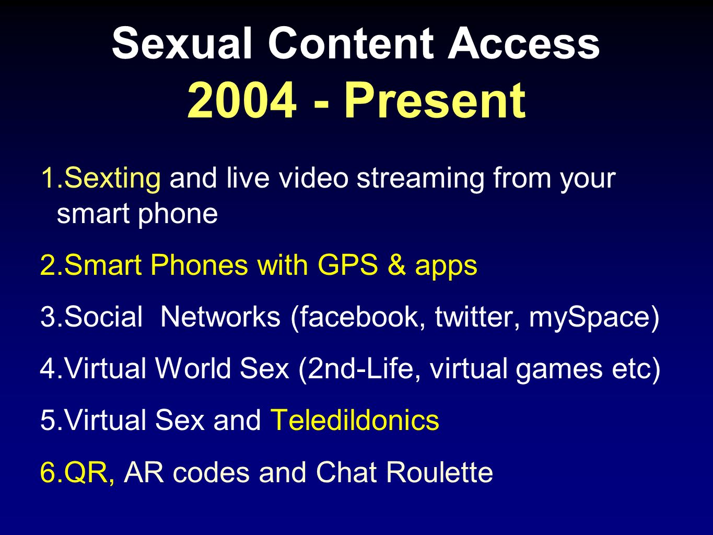 Sexual Content Access 2004 - Present