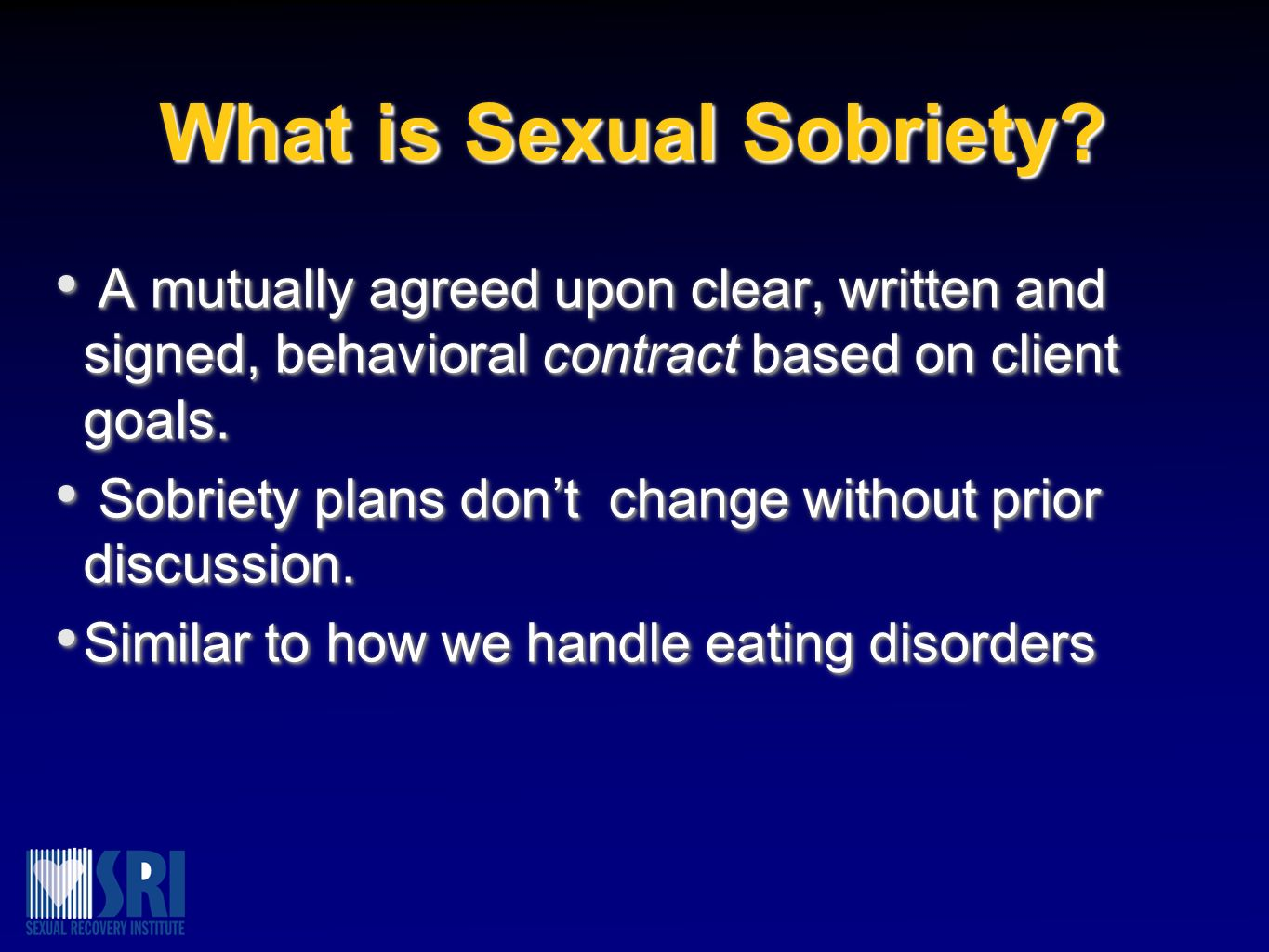 What is Sexual Sobriety