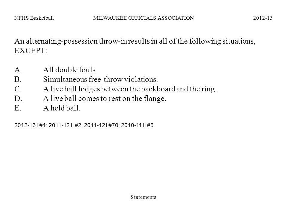 B. Simultaneous free-throw violations.