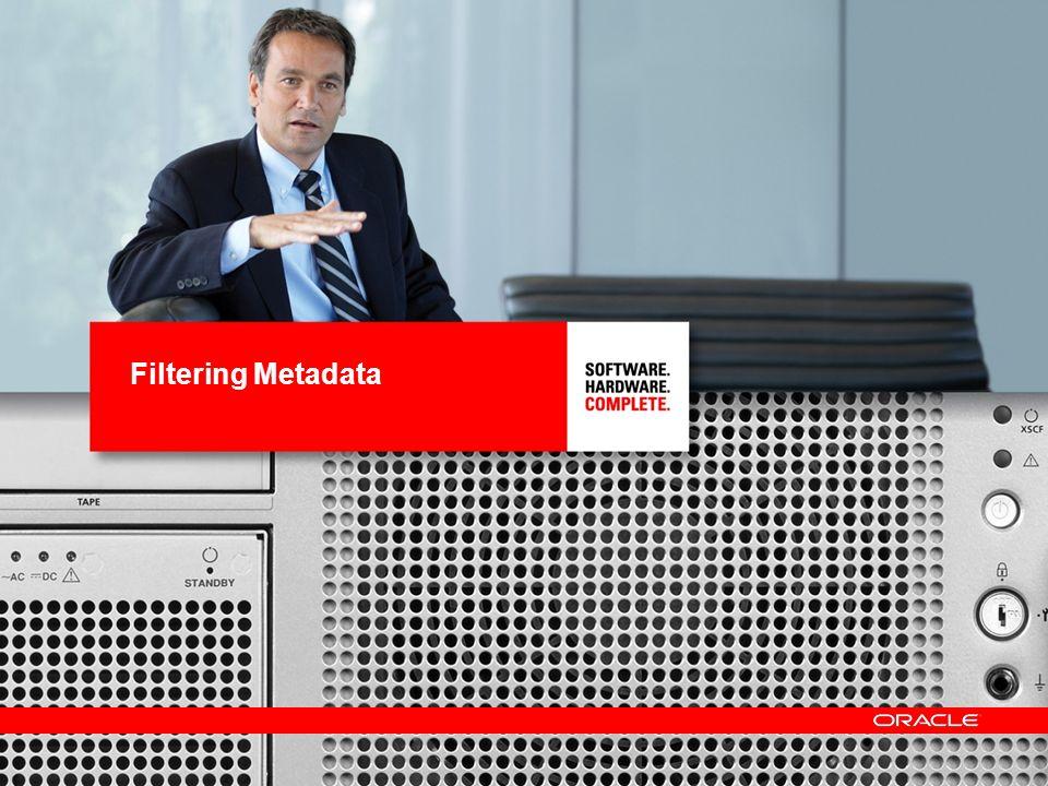 Filtering Metadata