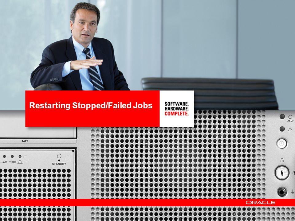 Restarting Stopped/Failed Jobs