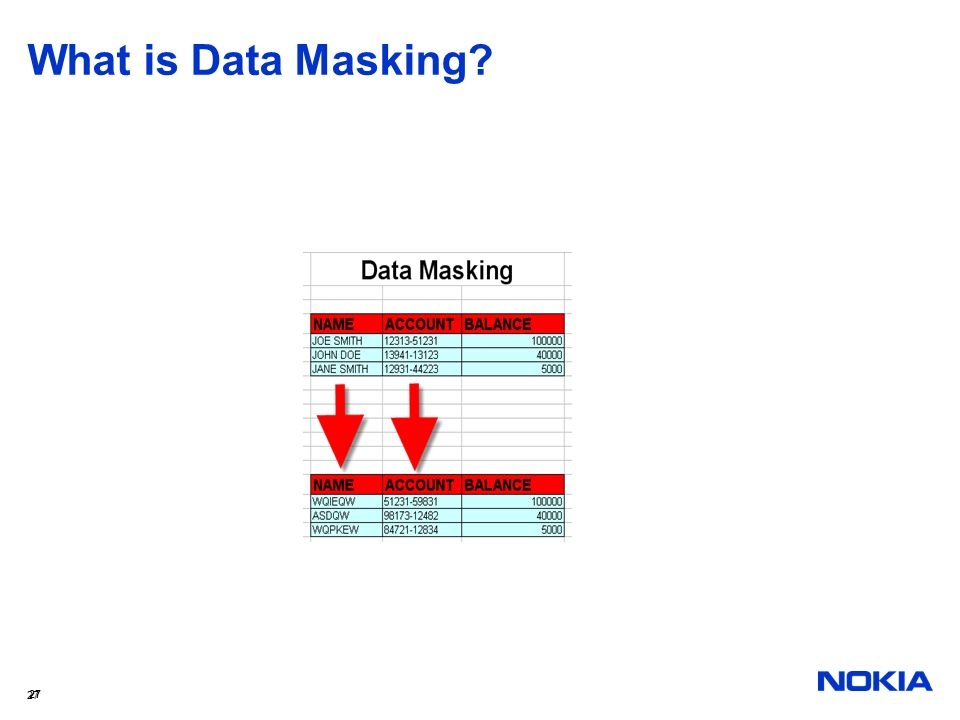 What is Data Masking 27