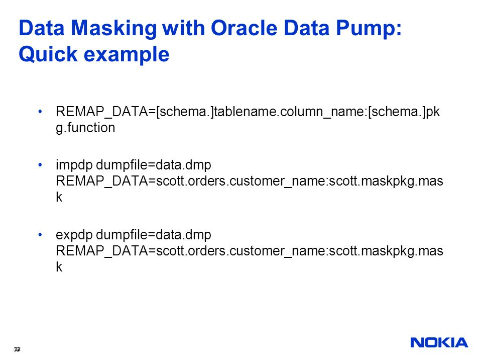 Data Masking with Oracle Data Pump: Quick example
