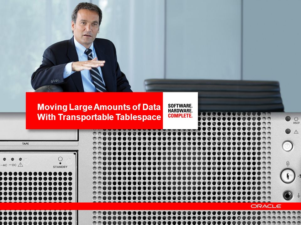 Moving Large Amounts of Data With Transportable Tablespace