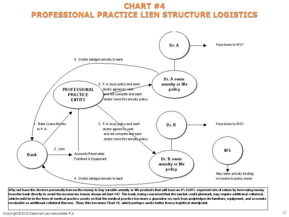 PROFESSIONAL PRACTICE LIEN STRUCTURE LOGISTICS