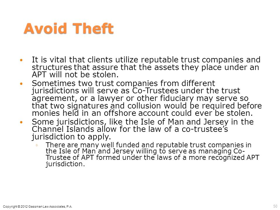 Avoid Theft