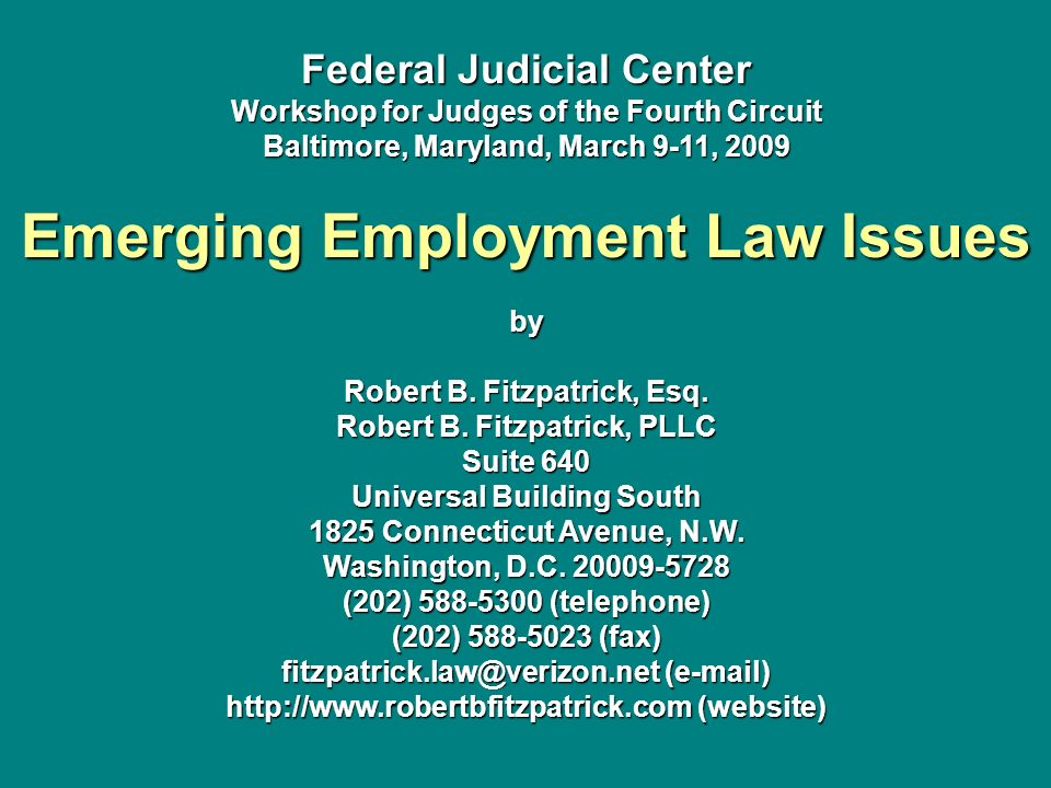 Emerging Employment Law Issues