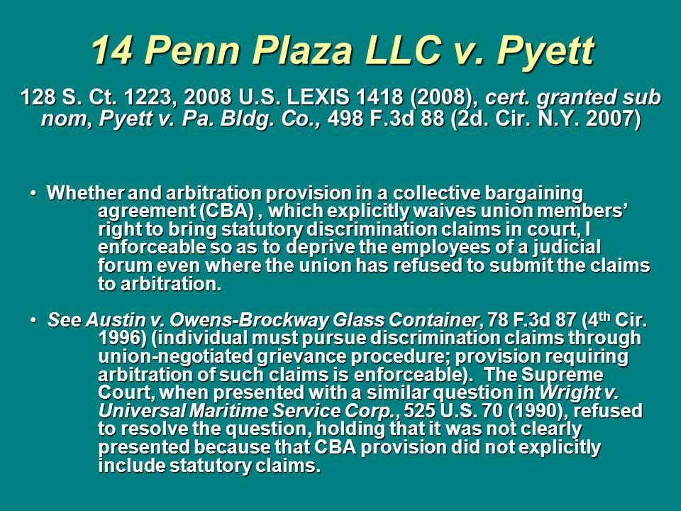 14 Penn Plaza LLC v. Pyett