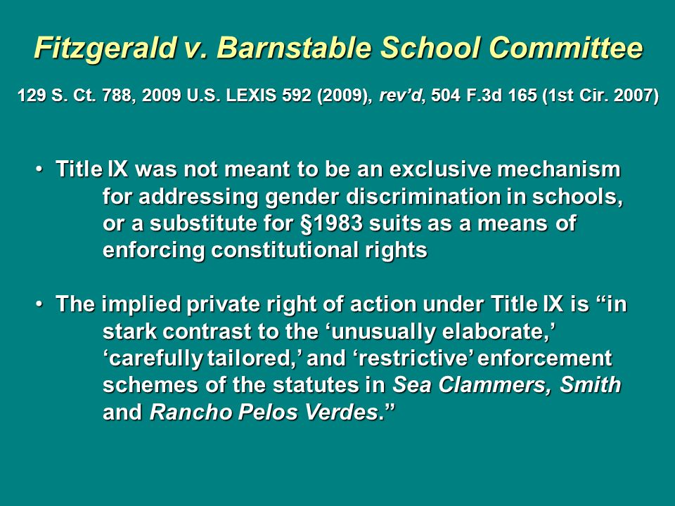 Fitzgerald v. Barnstable School Committee