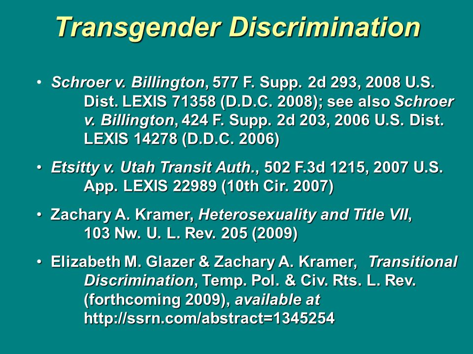 Transgender Discrimination