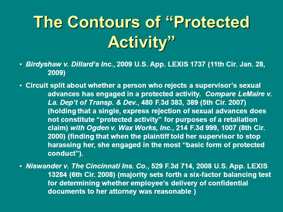 The Contours of Protected Activity