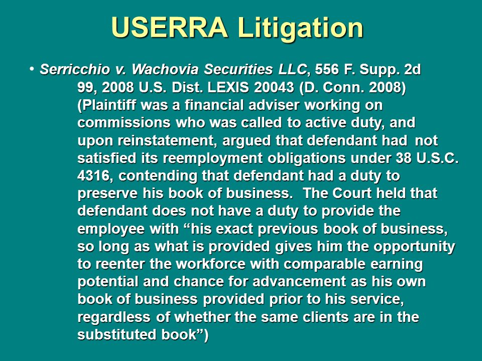 USERRA Litigation