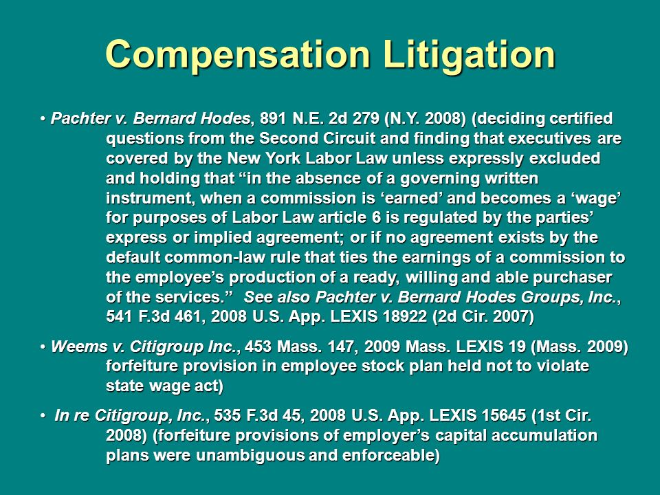 Compensation Litigation
