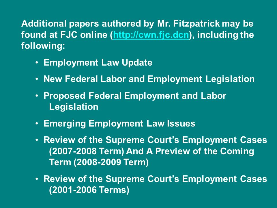 Additional papers authored by Mr
