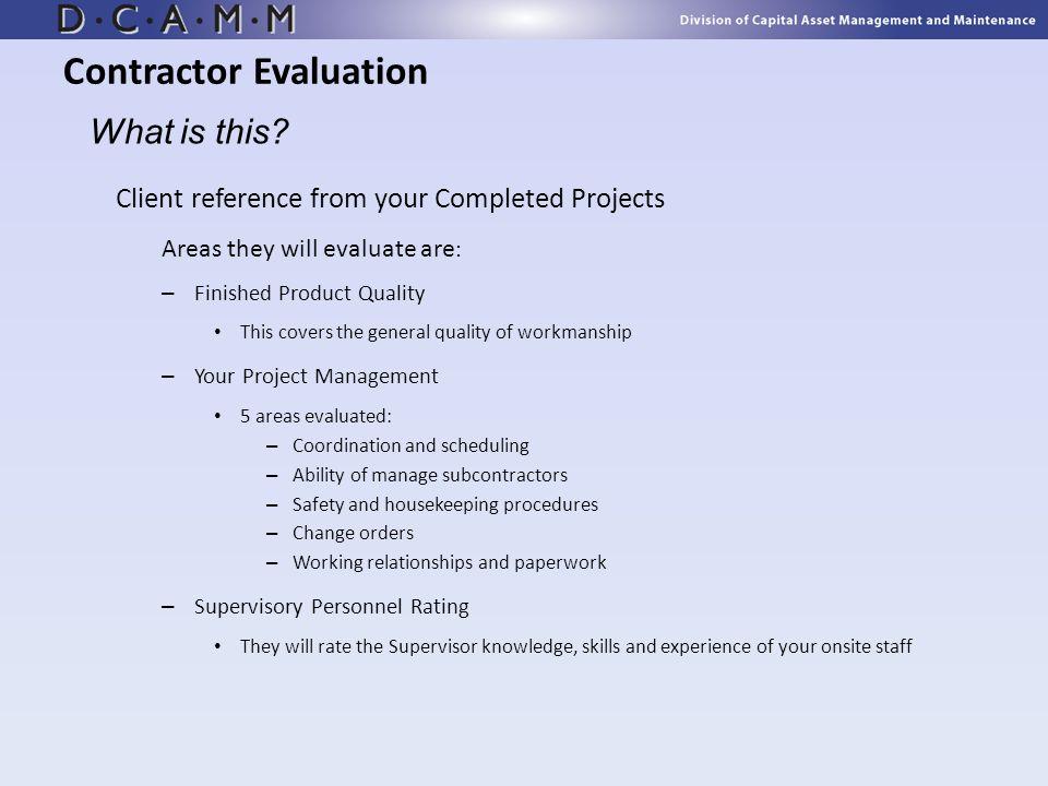 Contractor Evaluation