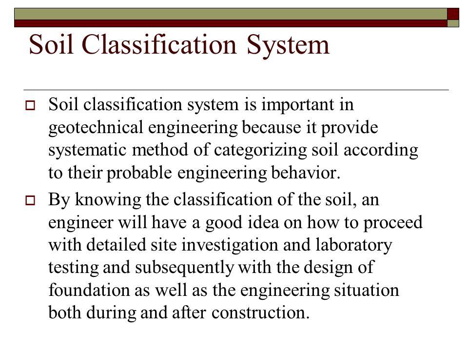 Soil Classification System