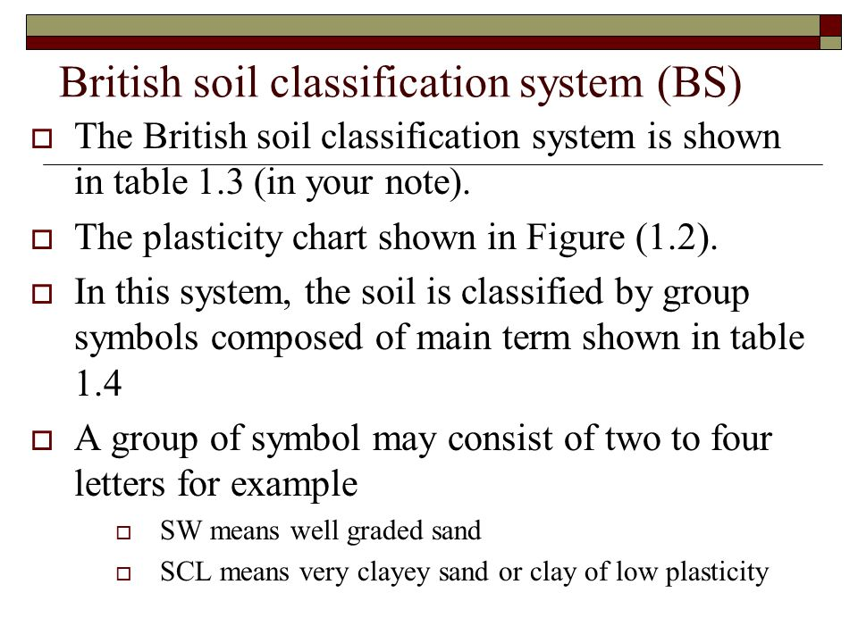 British soil classification system (BS)