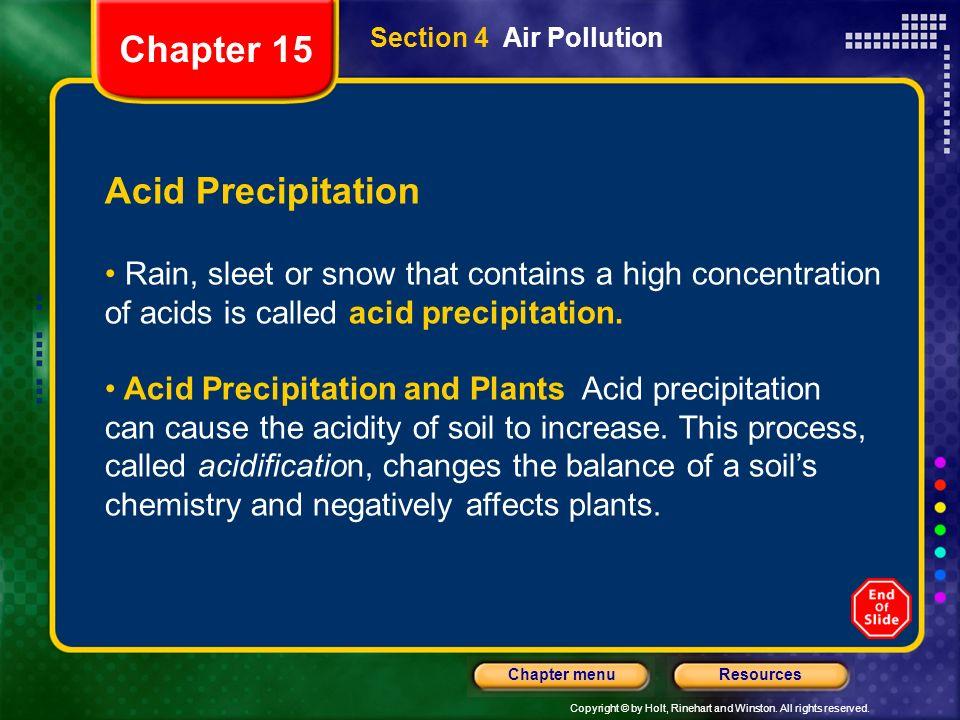 Chapter 15 Acid Precipitation