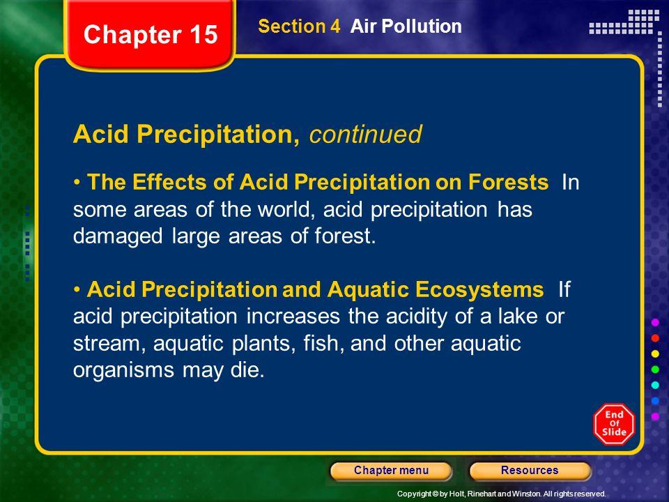 Acid Precipitation, continued