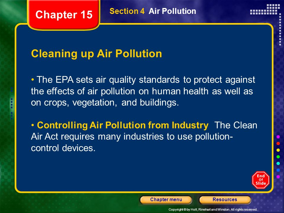 Cleaning up Air Pollution